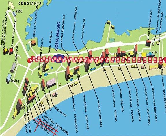 Localizare pe harta Hotel Delfinul